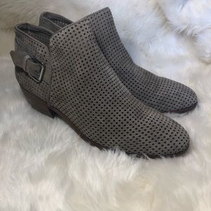 Sam Edelman perforated Gray Ankle Booties